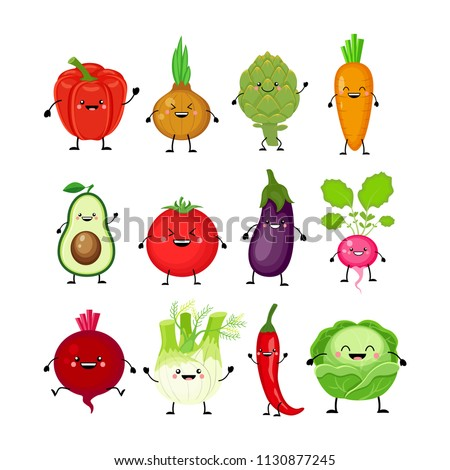 Vector illustration of a radish or beetroot with a cute smile. Cut and glue Stock photo © natali_brill