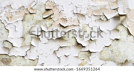 Old wall with peeling blue paint texture Stock photo © boggy