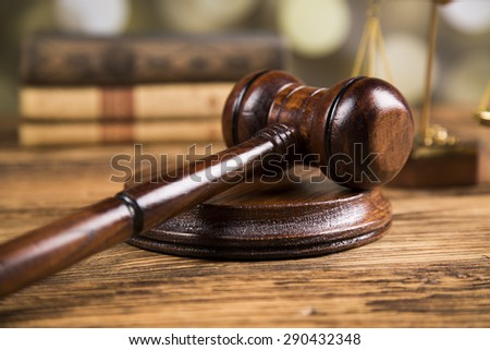 Golden Lady Justice Statue With Paragraphs Stock photo © limbi007