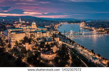 красивой закат мнение Церкви Будапешт Венгрия Сток-фото © artjazz