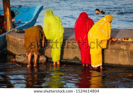 Women doing morning pooja Stock photo © dmitry_rukhlenko