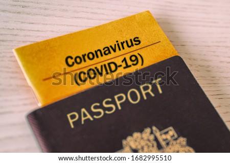 Koronavírus oltás bizonyosság füzet útlevél utazás Stock fotó © Maridav