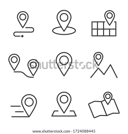 mapping pins icon set vector Stock photo © nezezon