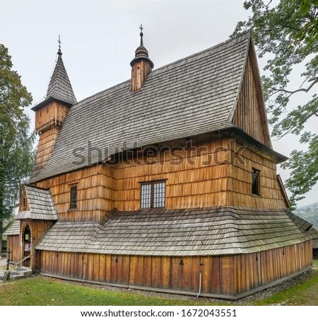 St Michael Archangels Church Debno Poland Stok fotoğraf © Borisb17