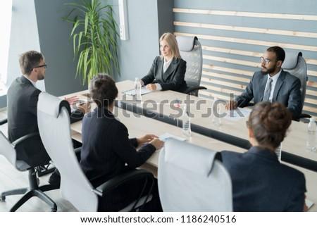 Zászlók tárgyaló nemzetközi konferencia üzlet vállalati Stock fotó © dolgachov