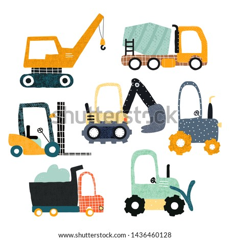 Set simple stickers transport icons stock photo © Ecelop