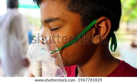 Patient receiving oxygen mask in an emergency unit Stock photo © wavebreak_media