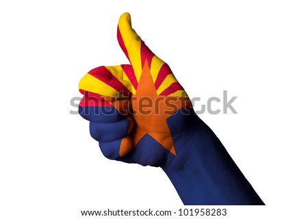 Arizona bandiera pollice up gesto eccellenza Foto d'archivio © vepar5