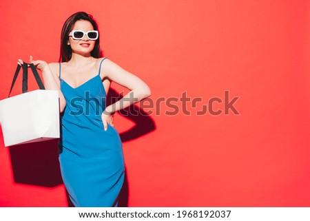 Sexy fashionable shopper Stock photo © dash