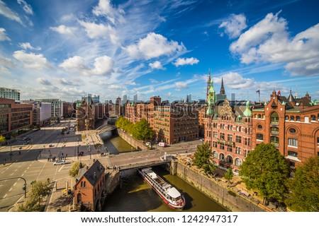 Speicherstadt in Hamburg Stock photo © meinzahn