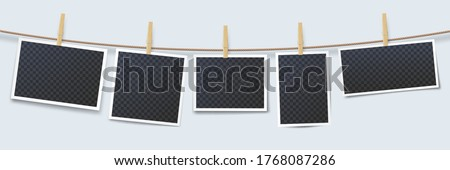 clothes line with pegs stock photo © meinzahn