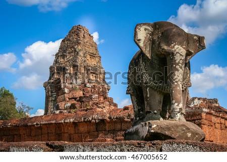 Templo antigo pedra estrutura angkor Camboja Foto stock © tuulijumala