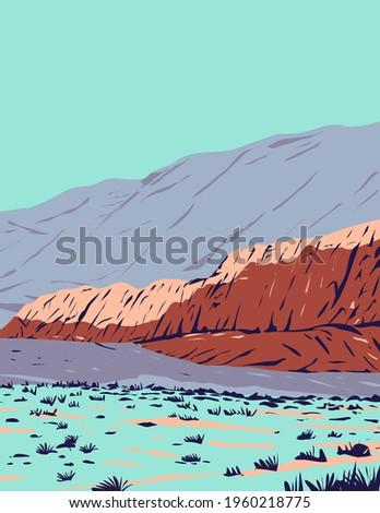 Piros kő kanyon stílus illusztráció egyetem Stock fotó © patrimonio