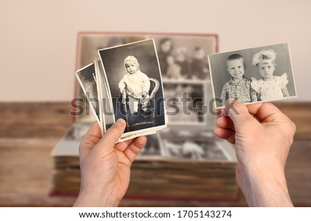 ヴィンテージ アルバム 手 古い 図書 木材 ストックフォト © Avlntn
