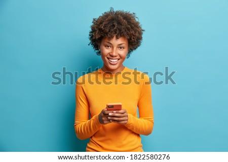 Lezser kaukázusi nő szőke visel kék Stock fotó © zdenkam