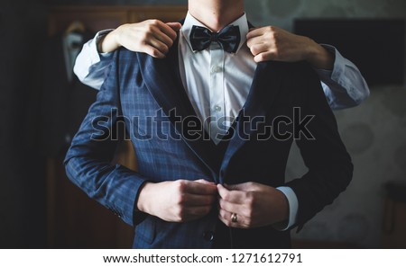 bruiloft · voorbereiding · mooie · brunette · bruid · glimlachend - stockfoto © victoria_andreas