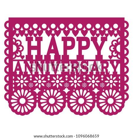 Boldog évforduló vektor terv lila üdvözlőlap Stock fotó © RedKoala