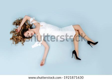 georgeus blonde beauty posing stock photo © konradbak
