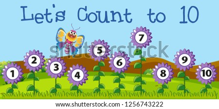 Let's count to 10 scenes Stock photo © bluering