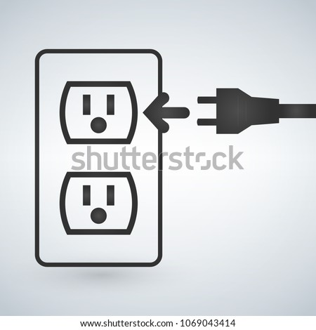 Illustration of a 110v power outlet isolated on a modern backgro Stock photo © kyryloff