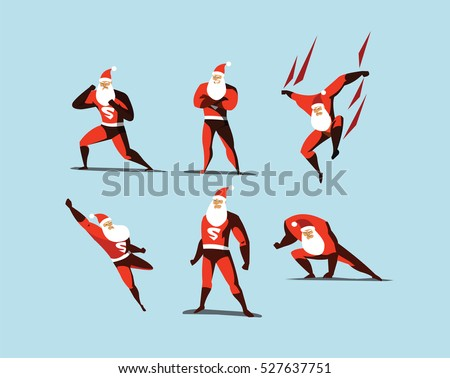 Flying Дед Мороз superhero Рождества характер небе Сток-фото © IvanDubovik