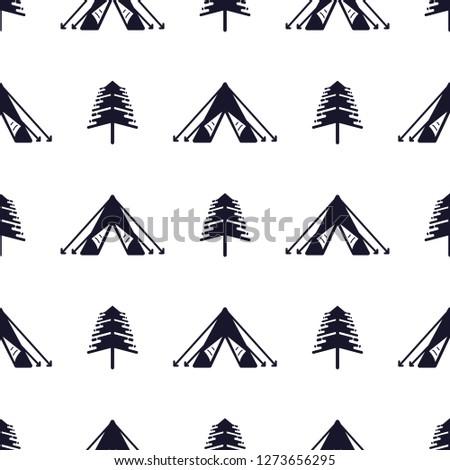 çadır ağaç siluet stil açık Stok fotoğraf © JeksonGraphics