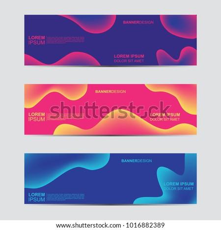 Gradiente fluido cartaz conjunto vetor negócio Foto stock © pikepicture