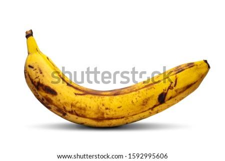 Marcio banane grigio frutta spazio nero Foto d'archivio © szefei