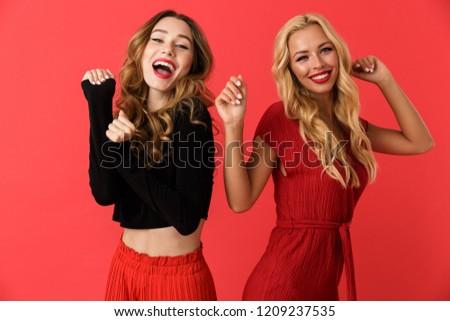 幸せ 小さな 友達 女性 立って 孤立した ストックフォト © deandrobot
