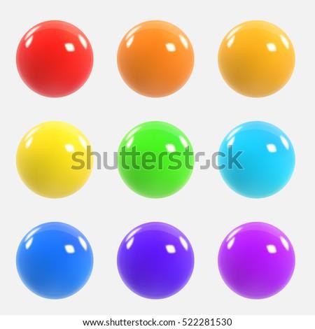 Colourful balls Stock photo © colematt