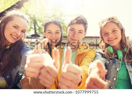 счастливым · пару · улице · дружбы - Сток-фото © dolgachov