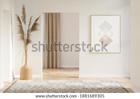 Domu korytarzu wnętrza widoku drzwi nowoczesne Zdjęcia stock © Terriana