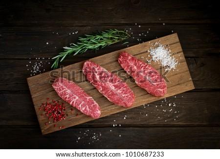 Top lama bistecca alla griglia carne macellaio Foto d'archivio © karandaev