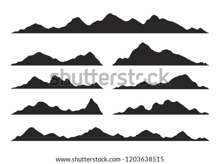 montanas · vector · naturaleza · detallado · ilustración · colinas - foto stock © frimufilms