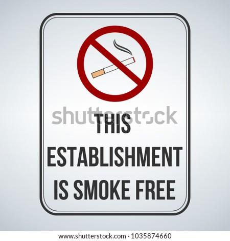 Segno fumo libero vettore isolato Foto d'archivio © kyryloff