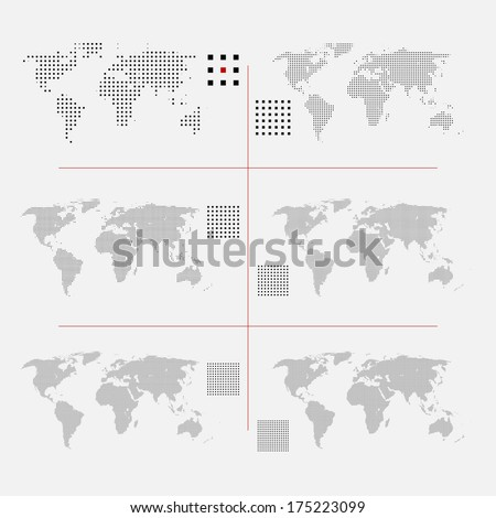 World map square dotted style, vector illustration isolated on white background. Stock photo © kyryloff