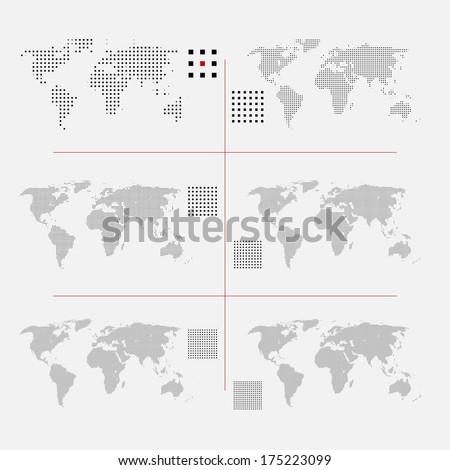 dünya · haritası · kare · noktalı · stil · yalıtılmış · beyaz - stok fotoğraf © kyryloff