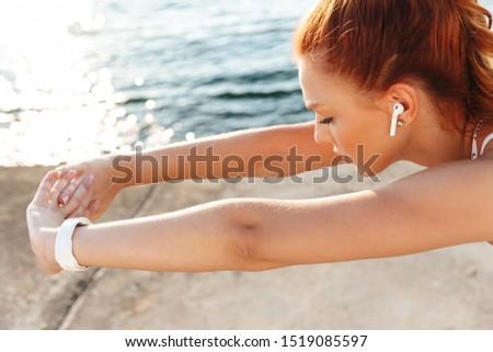 Asombroso hermosa jóvenes deportes mujer imagen Foto stock © deandrobot