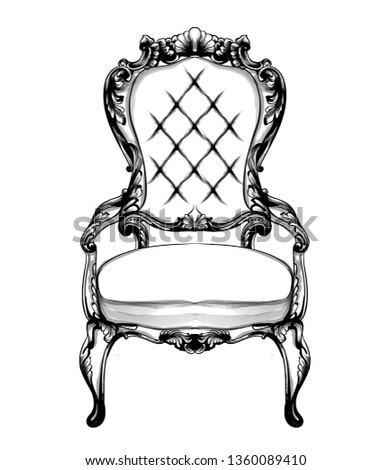rich classic armchair royal style decotations victorian orname stock photo © frimufilms