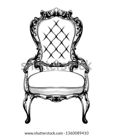 Ricos clásico sillón real estilo adornos Foto stock © frimufilms