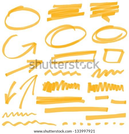 Marcador linhas vetor highlighter escove mão Foto stock © olehsvetiukha