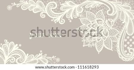 retro · csipke · minta · vektor · üdvözlőlap · esküvő · születésnapi · buli - stock fotó © redkoala