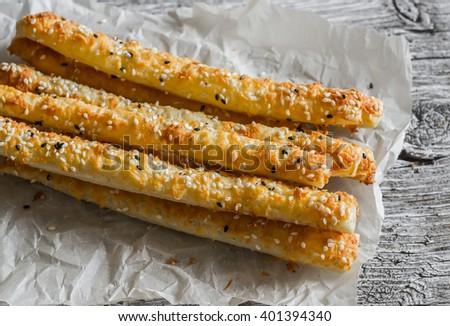Italiaans gezouten brood sesam rosmarijn kruid Stockfoto © marylooo