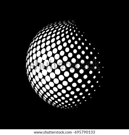 Absztrakt pontozott halftone földgömb Föld izolált Stock fotó © kyryloff