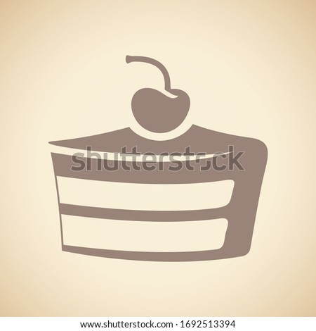 Black Muffin Icon isolated on a Beige Background Vector Illustra Stock photo © cidepix