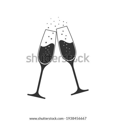 çift · şampanya · gözlük · görmek - stok fotoğraf © dolgachov