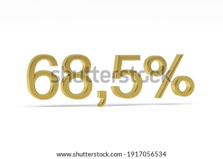 sixty eight percent on white background. Isolated 3D illustratio Stock photo © ISerg