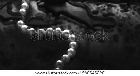 Kust sieraden mode parel ketting zwarte Stockfoto © Anneleven