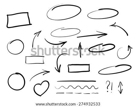 Set of Hand Drawn Scribble Circles Stock photo © ShustrikS