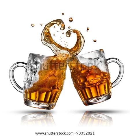 ガラス 新鮮な ビール スプラッシュ 中心 ストックフォト © artjazz